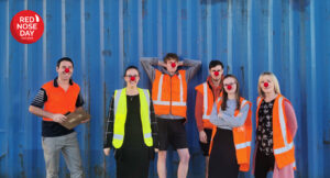 smart pack employees supporting red nose day 2021