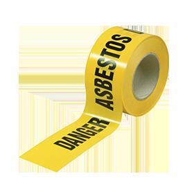 adhesive warning asbestos tape